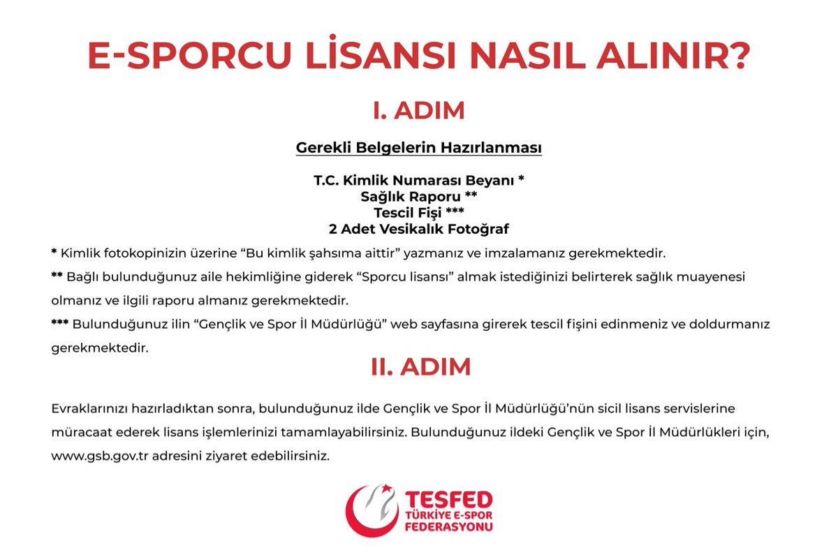 Türkiye'de e-spor lisansı nasıl alınır