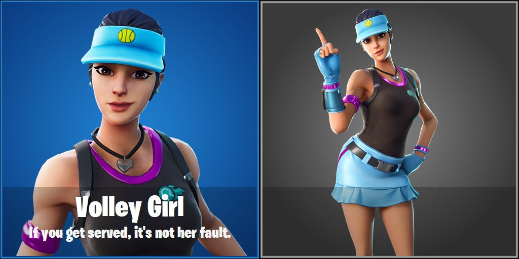 Fortnite, Volley Girl, tenis kostümü, tenis, kostüm, skin, tenis skini, fortnite skin