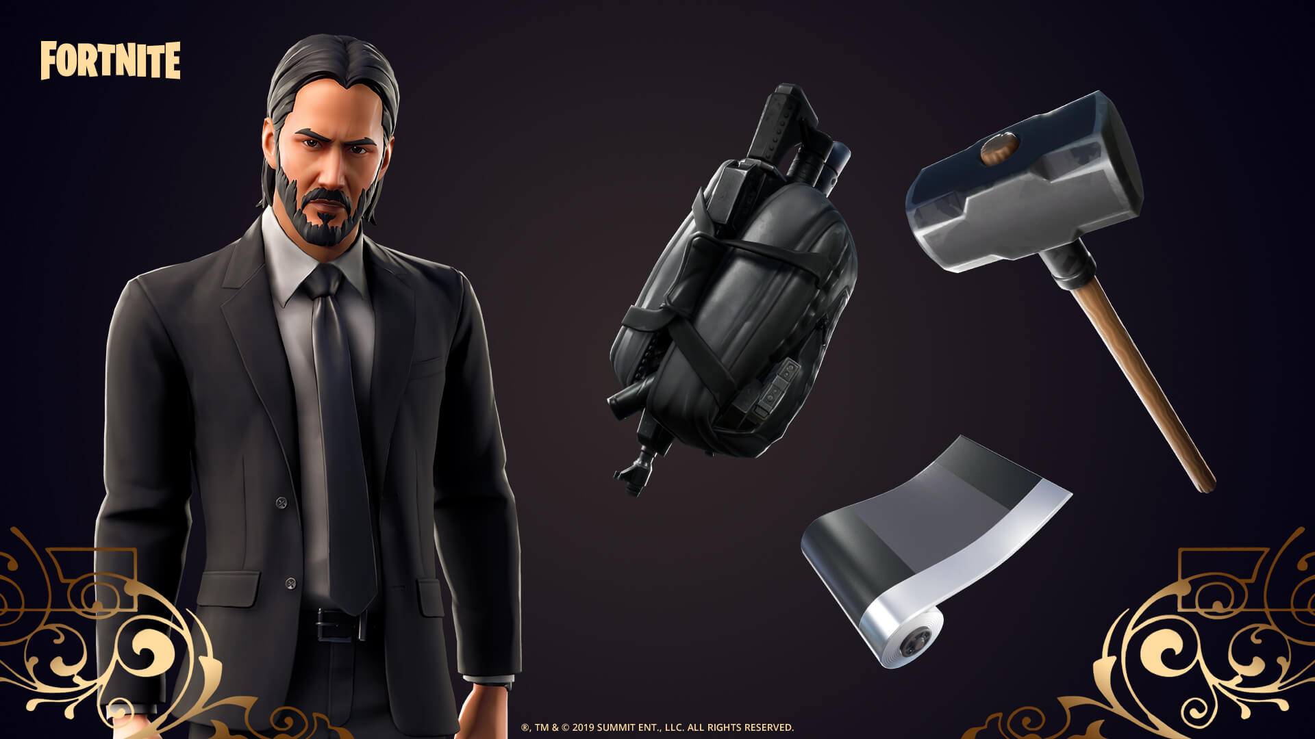 fortnite, john wick, film, oyun, espor