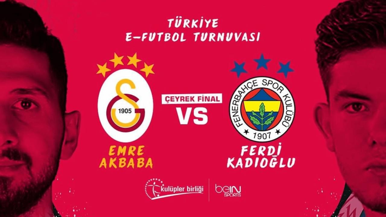 Türkiye E-Futbol Turnuvası'nda Fenerbahçe - Galatasaray derbisi bugün