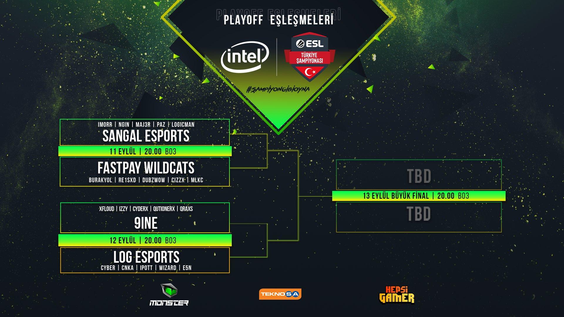 INTEL ESL Türkiye CS:GO Şampiyonası playoff maçları belli oldu