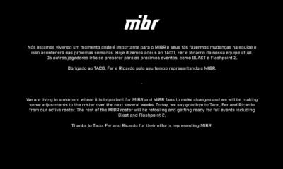 MIBR'da yaprak dökümü başladı! Oyuncular organizasyonu eleştirdi!