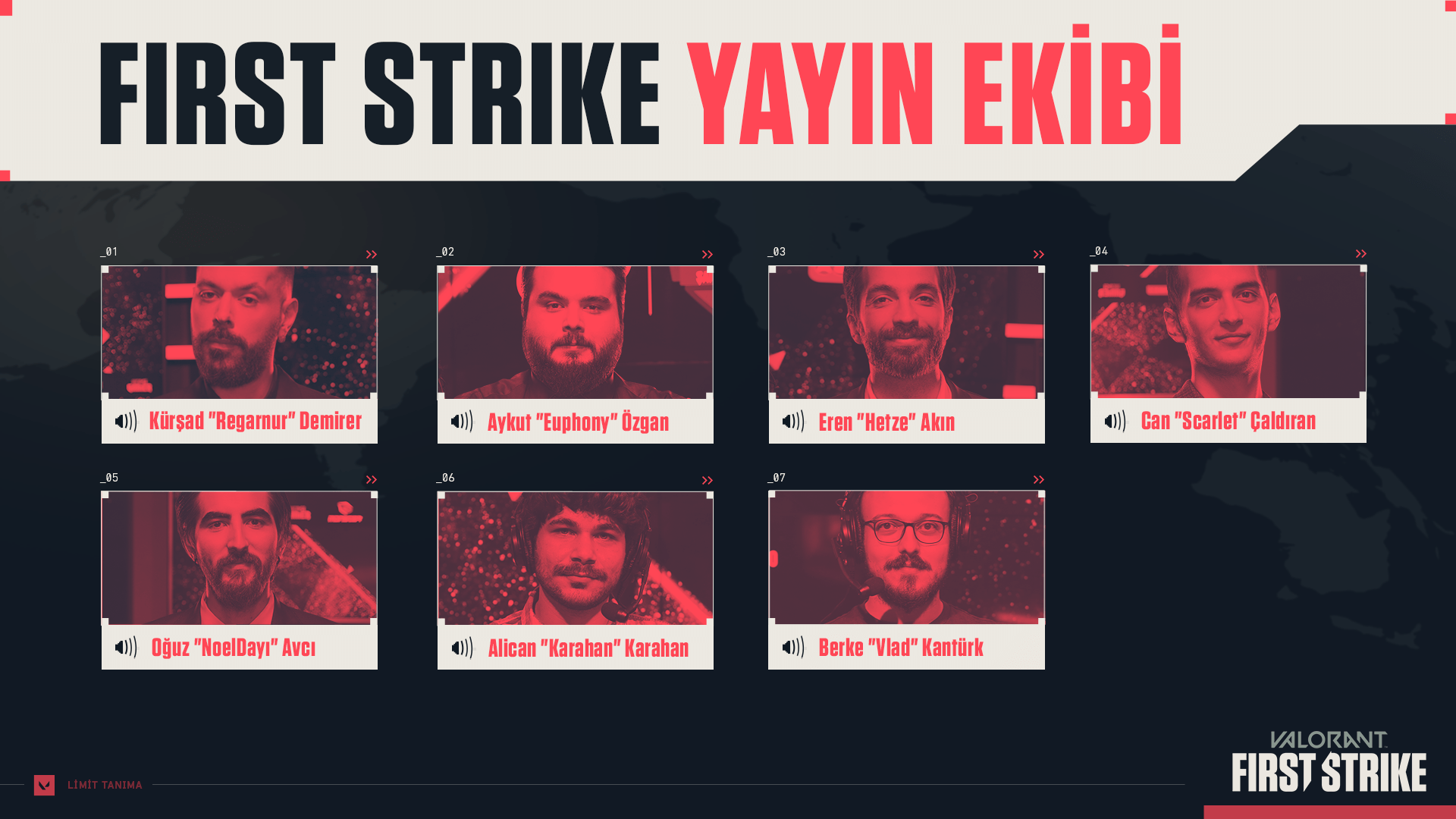First Strike yayın ekibi