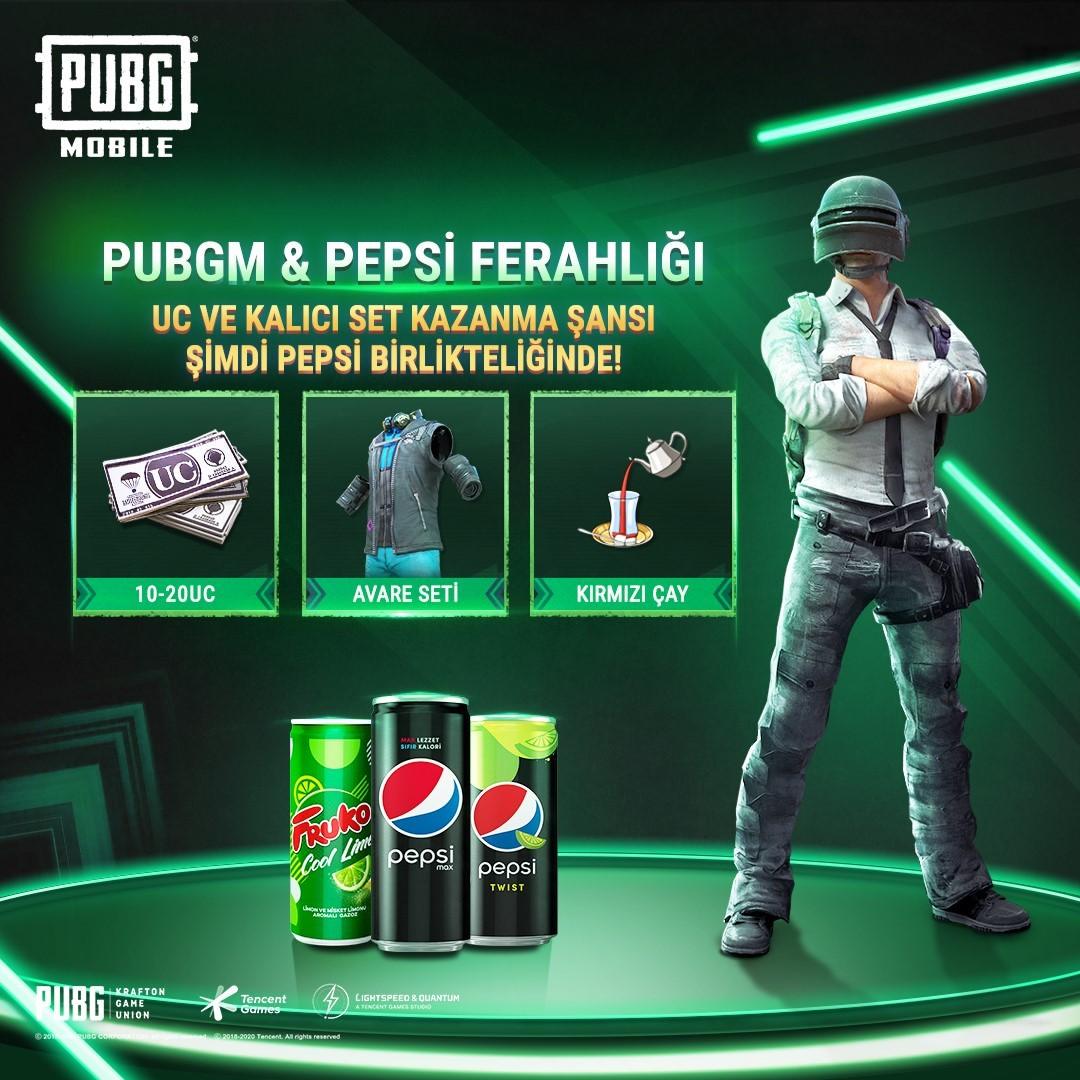 PUBG Mobile ve Pepsi UC kodları için anlaşma yaptı! 13