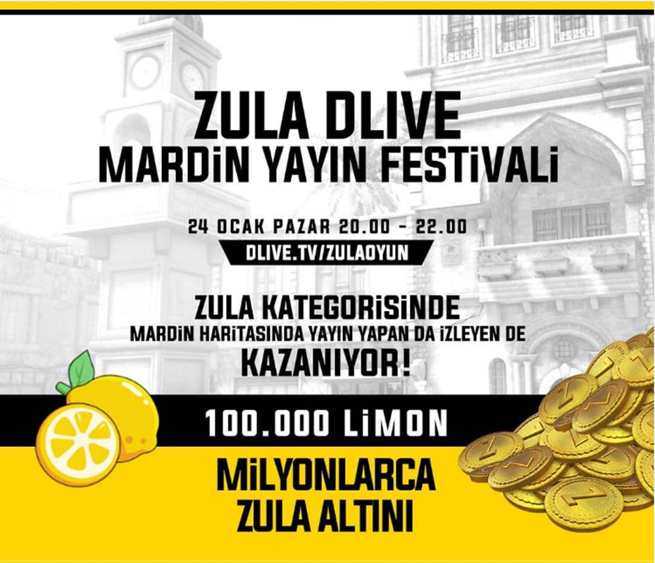 Dlive'da Zula Mardin Yayın Festivali