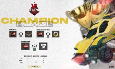 Rocket League Turnuvası Şampiyonu BLAZE