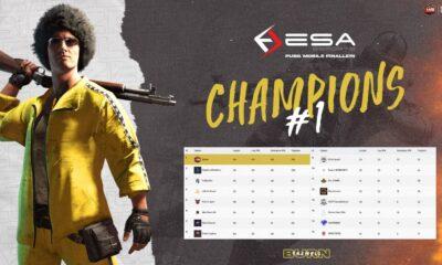 ESA Esports ininal PUBG Mobile Turnuvası şampiyonu Blaze Esports oldu