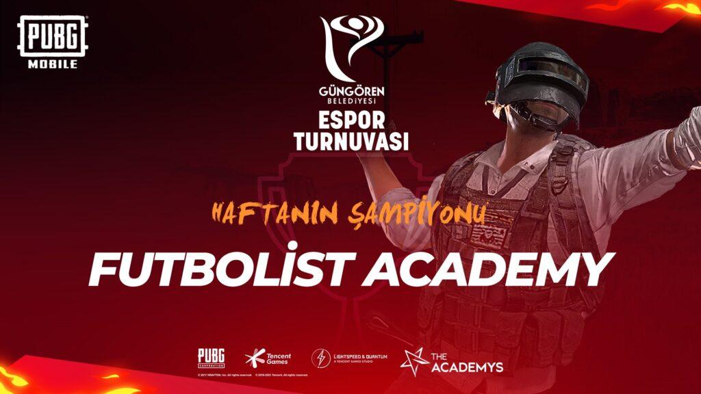 Futbolist Academy Güngören Belediyesi Espor Turnuvası şampiyonu oldu!