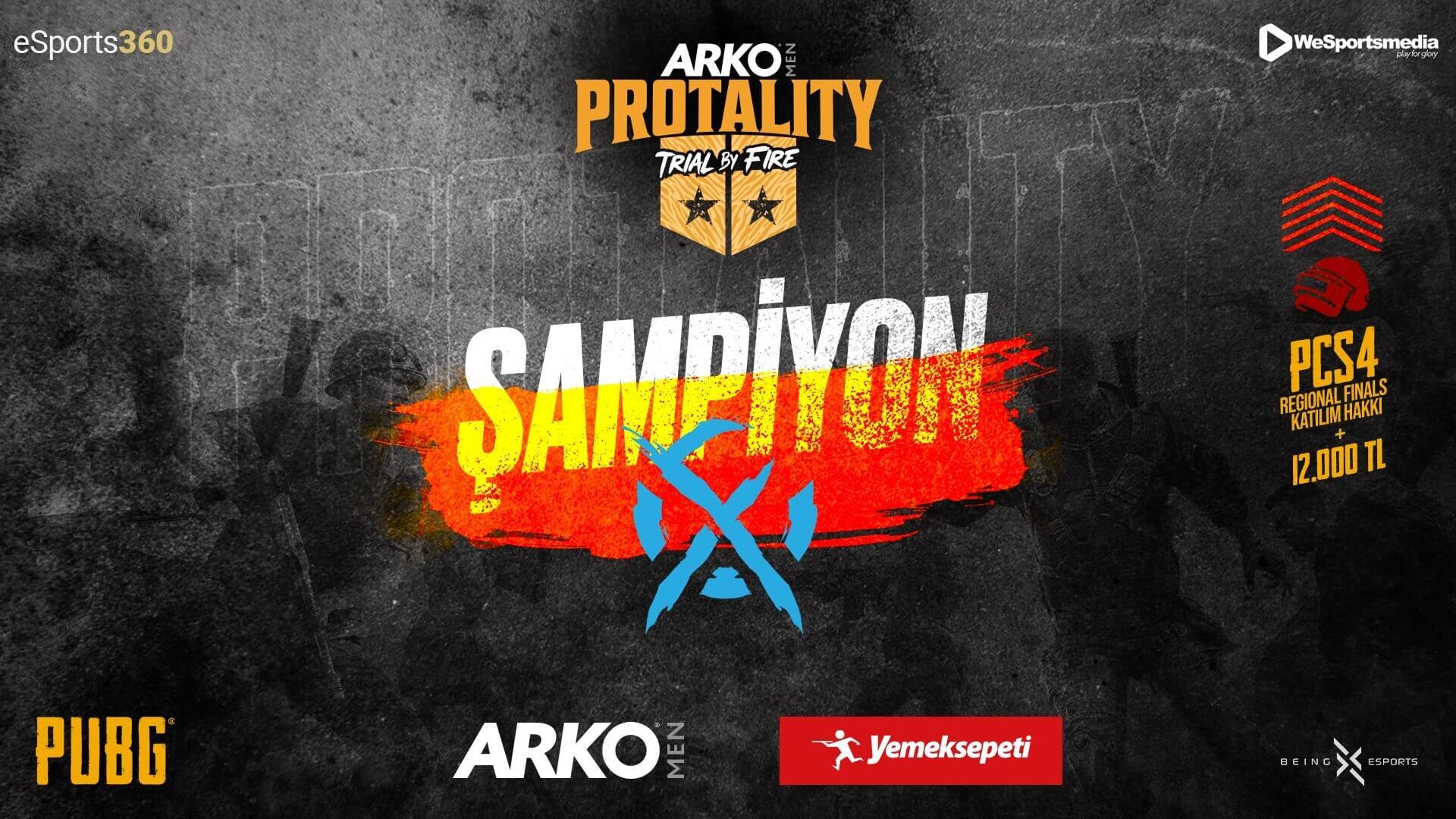 ARKO MEN PROTALITY: Trial by Fire şampiyonu Xflow Esports oldu
