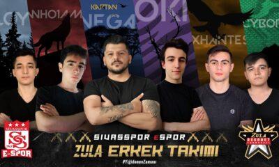 Sivasspor Espor Zula Rekabet Turnuvası takımını duyurdu
