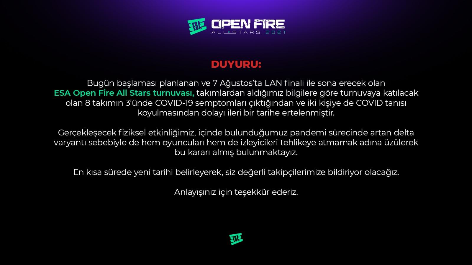 ESA Open Fire All Stars