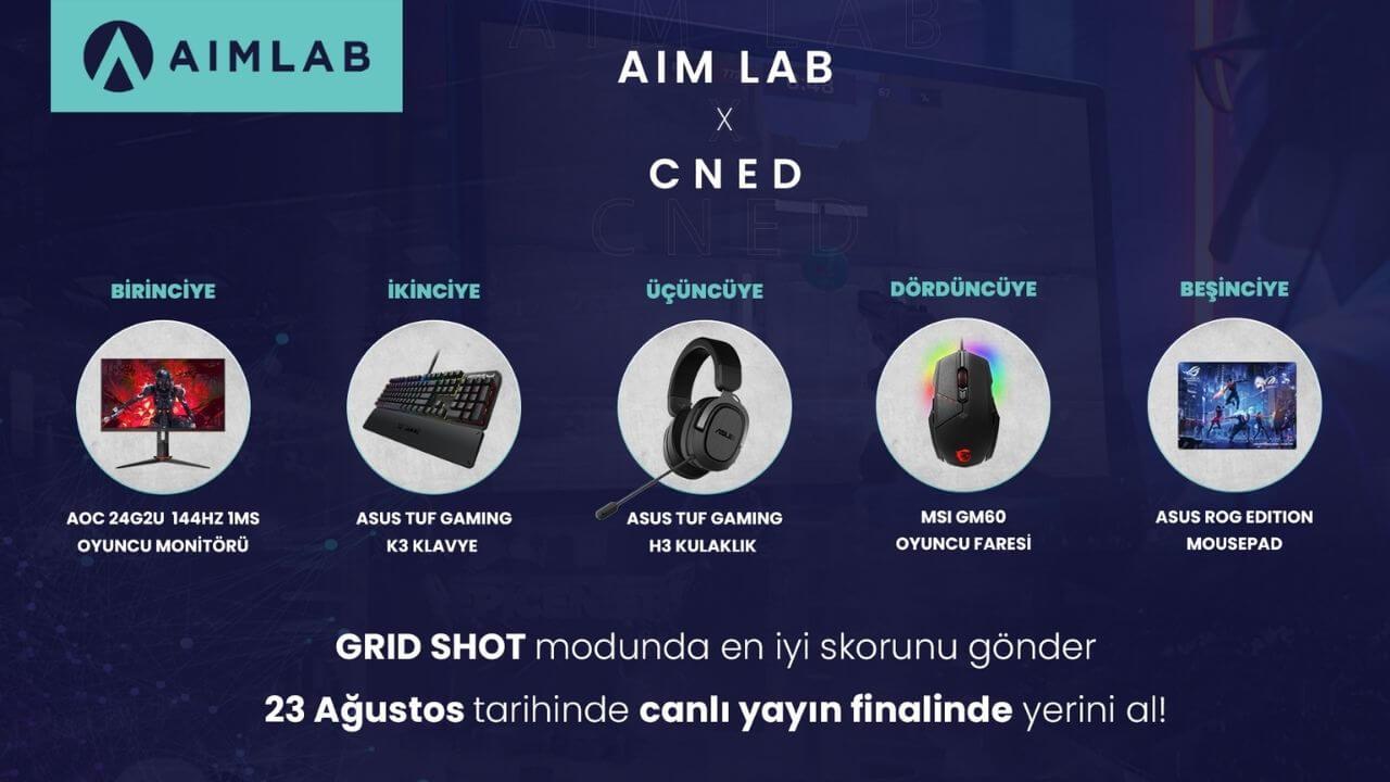Aim Lab ve cNed ile birlikte GRID SHOT etkinliği düzenliyor!