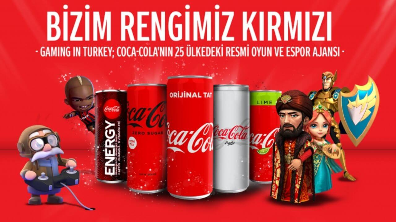Gaming in Turkey ve Coca-Cola arasında 25 ülkeyi kapsayan anlaşma