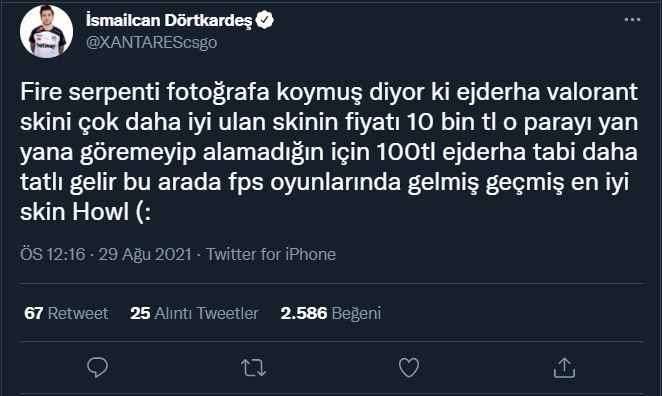 XANTARES, VALORANT Ejder Vandal skini hakkında konuştu