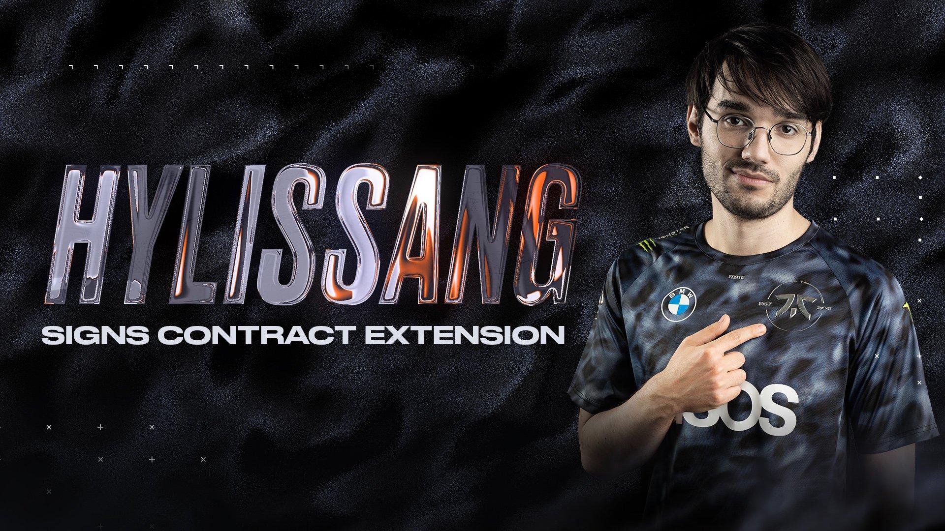 Hylissang, Fnatic ile olan sözleşmesini 2023 yılına kadar uzattı