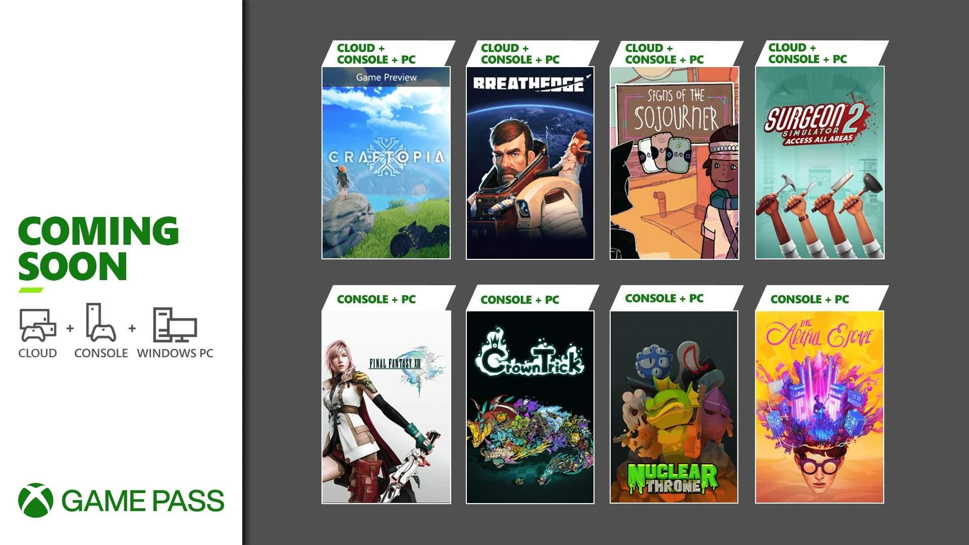 Xbox Game Pass Final Fantasy XIII