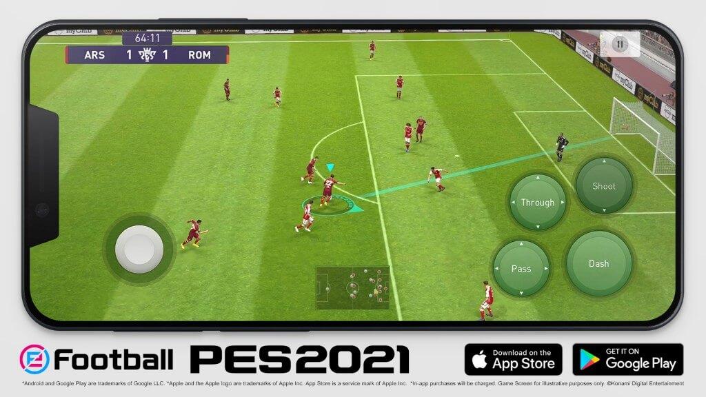 eFootball PES 2021 Mobile 450 milyon indirmeye ulaştı