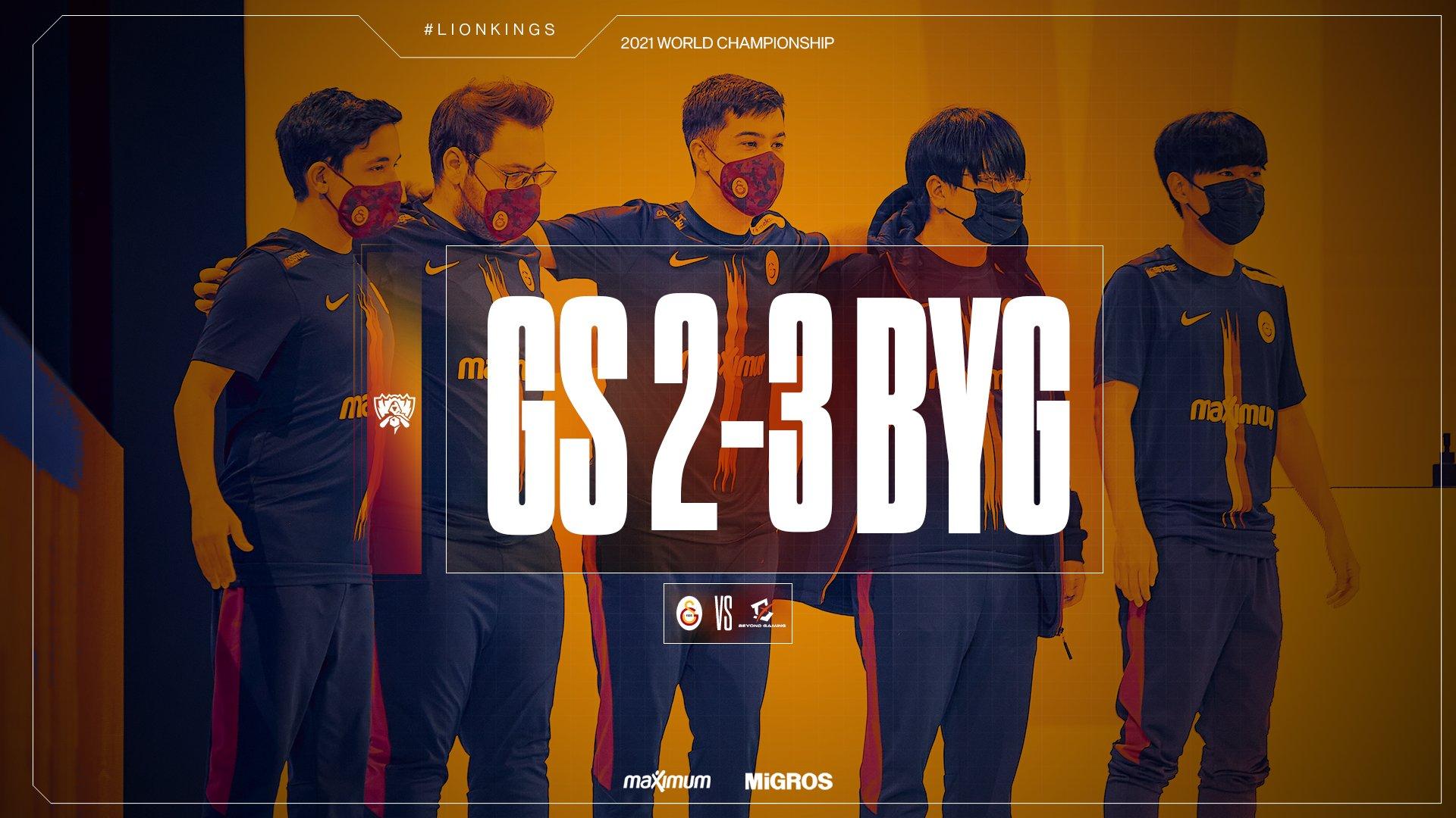 Temsilcimiz Galatasaray'ın 2021 Dünya Şampiyonası yolculuğu sona erdi