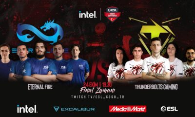 Intel ESL Türkiye Şampiyonası finalinin adı: Thunderbolts Gaming vs Eternal Fire
